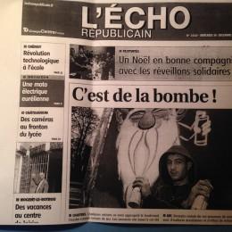 En couverture de l'Écho, pour la dernière session de Boulevard du Graff 2012
